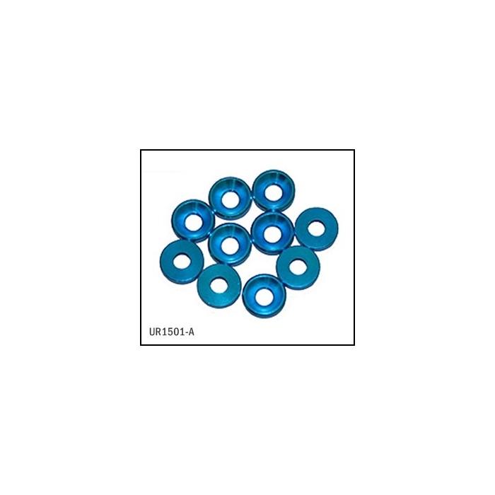 Arandela Cónica Aluminio 3mm Azul (10 uds)