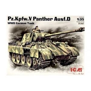 Maqueta Pz.Kpfw.V Panther Ausf.D, WWII German Tank 1:35