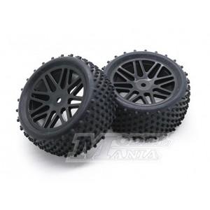 "Neumático + LLanta ""Y"" Buggy 1:10 Traseros"