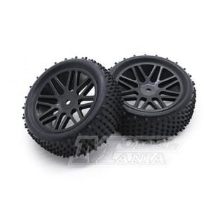"""Neumático + LLanta """"Y"""" Buggy 1:10 Delanteros"""