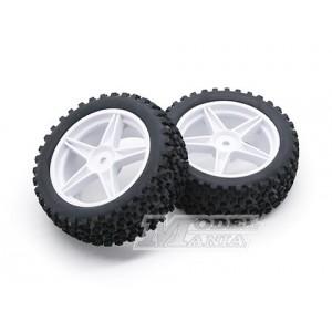 Neumático + LLanta 5 Radios Buggy 1:10 Delanteros