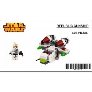 Republic Gunship Star Wars Microfighters Blocks