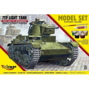 Maqueta Tanque Kit 7TP Tank Single Turret 1:35