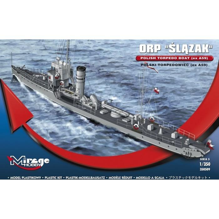 Maqueta Barco ORP Slazak Torpedo Boat (ex A59) 1/350