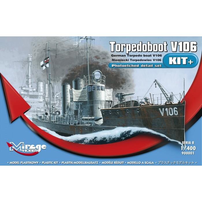 Maqueta Barco German Torpedoboot V106 1:400