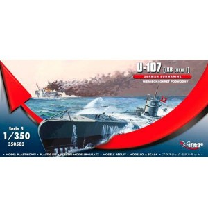 Maqueta Submarino German U-Boot U-107 IXC 1:350