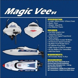Lancha Magic Vee V.2 RTR 2.4Ghz