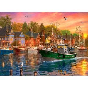 Puzzle 1000 Atardecer en el Puerto