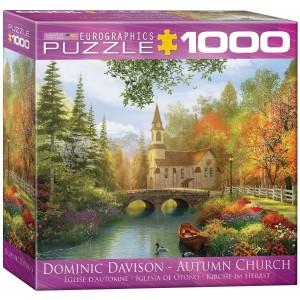 Puzzle 1000 Iglesia en Otoño