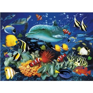 Puzzle 1000 3D Dolphin