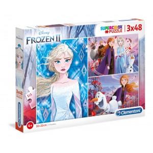 Puzzle 3x48 Disney Frozen 2