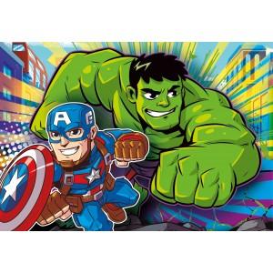 Puzzle 3x48 Marvel Super...