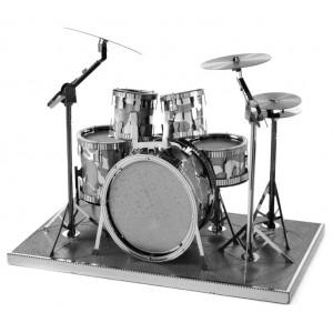 Batería Drum Set Metal 3D