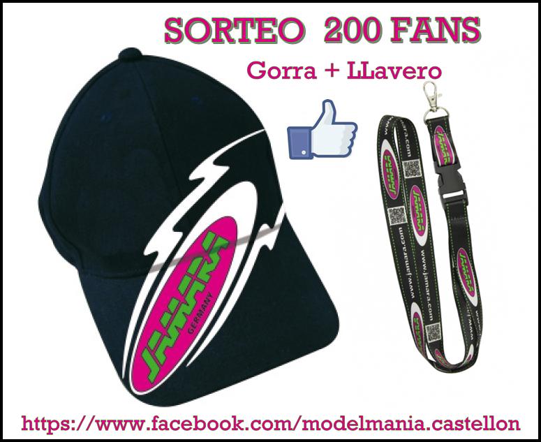 Sorteo 200 fans facebook