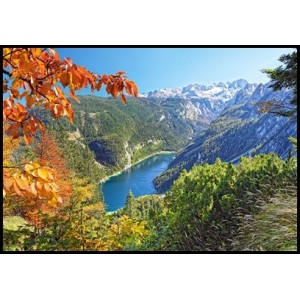 Puzzle 2000 Navy Blue Lake in the Alps