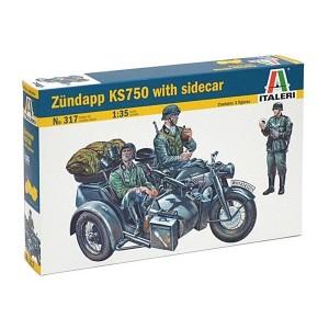 Maqueta Zundapp KS750 con Sidecar