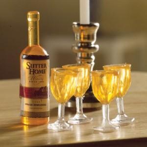 Botella de Vino + 4 Copas
