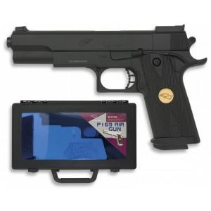 Pistola AIRSOFT con Maletín