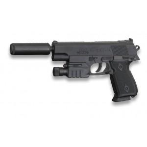 Pistola AIRSOFT con Silenciador Cyma