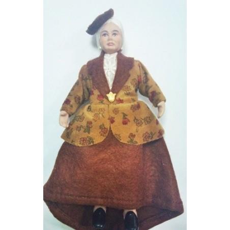 Personaje Abuela 15cm con Sombrero