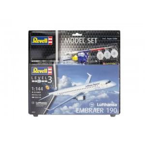 Maqueta Avión Lufthansa Embraer 190 Model Set 1:144