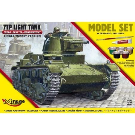 Maqueta Tanque Kit 7TP Tank Single Turret 1:35