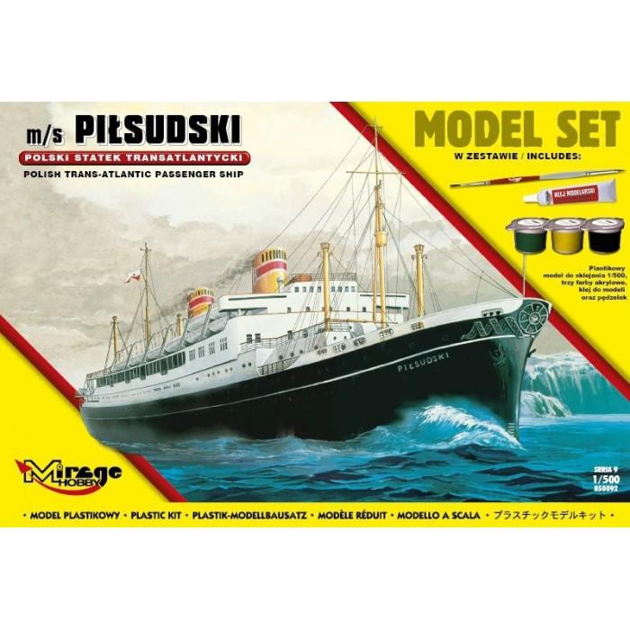 Maqueta Barco Kit Trans-Atlantic Ship 1/500