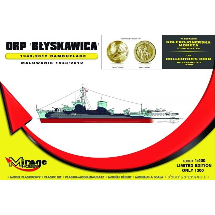 Maqueta Barco ORP Blyskawica 1943/2012 camouflage 1:400
