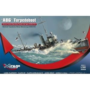 Maqueta Barco A86 German Torpedoboat WWI 1/350