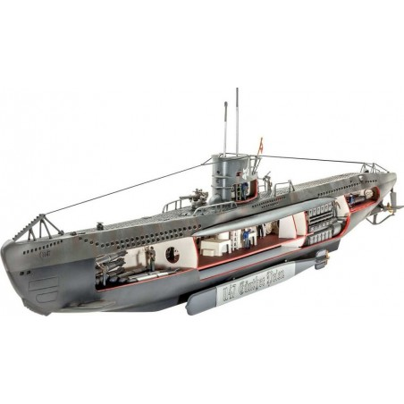 Maqueta Submarino German U-Boat U-47 1:125