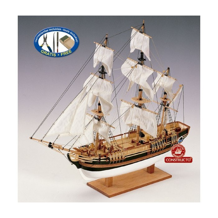 Barco HMS Bounty casco macizo en Kit