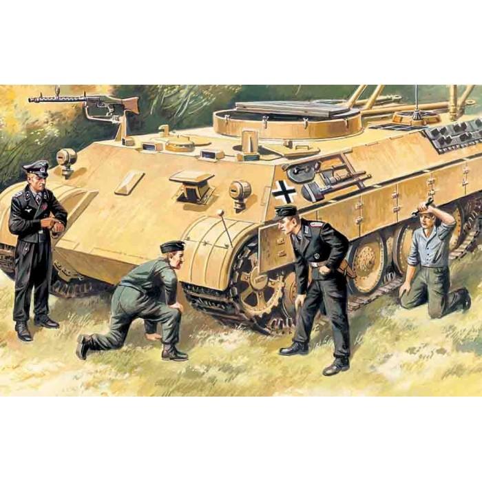 Maqueta Figuras German Tank Crew (1943-1945) 1:35