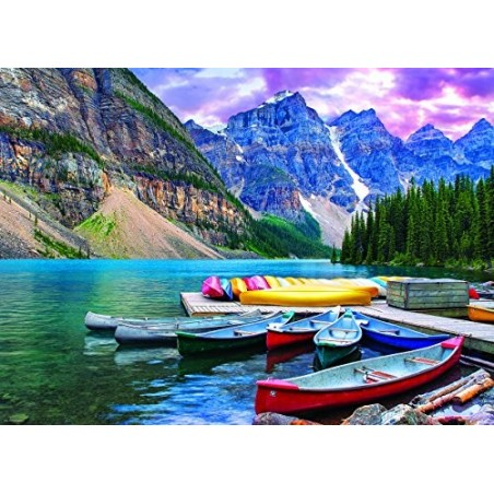 Puzzle 1000 Canoas en el Lago